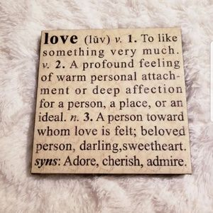 Love definition black and yellow canvas wall art